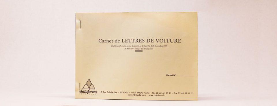 Carnet lettre de voiture-transport | Dataforms