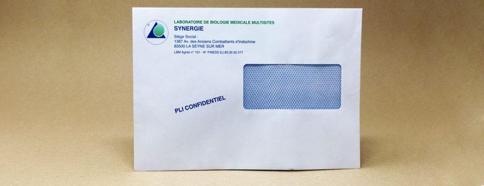 Enveloppe personalisée avec fenêtre   Dataforms