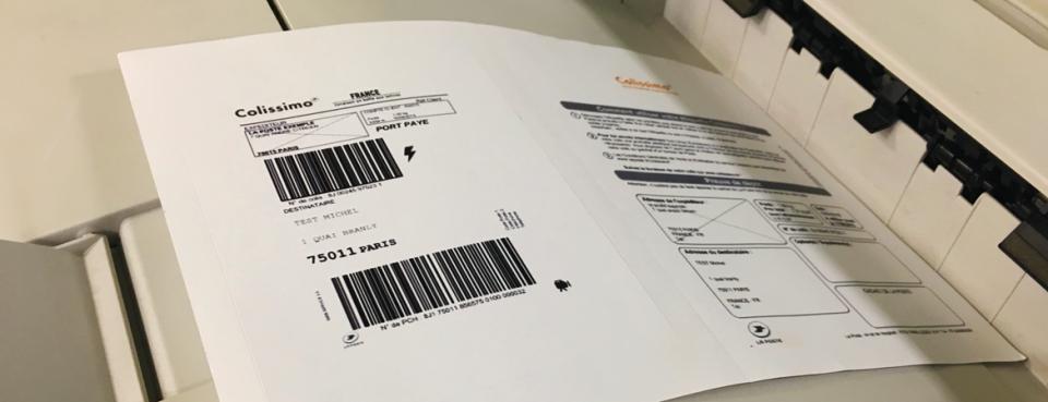 Etiquette intégrée pour livraison des Collissimo | Dataforms