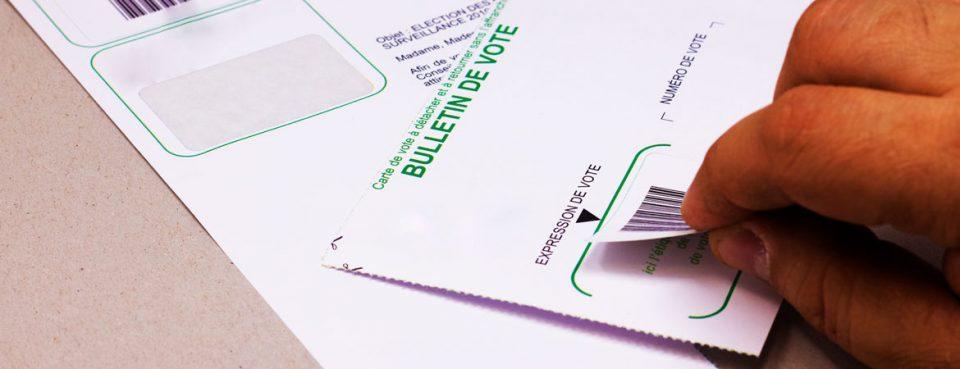 Etiquettes intégrées pour imprimés administratifs-bulletin de vote   Dataforms