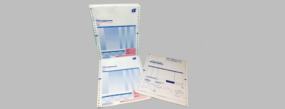Imprimés en continu autocopiants   Dataforms