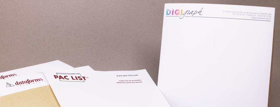 Papier entête Pac List® et Digigraph | Dataforms